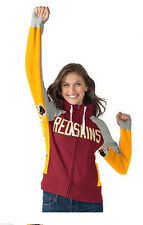 Washington REDSKINS NFL For Her Hands High Game Day Fleece Hoodie Jacket ~XL