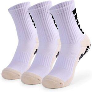 3 Pairs Men's Anti Slip Football Soccer Socks Non Slip Grip Pads Sports Socks