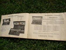 ORIGINAL ca. 40er 50er Heft Prospekt für MÄRKLIN Baukasten Einzelteile 1947