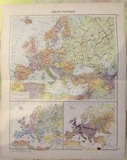 1962 Europe Politique Italie Dolomites,France ,Danube & Ile Helgoland Allemagne