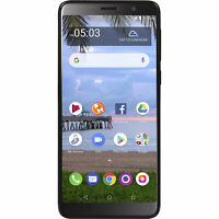 Alcatel A503DL TCL A1X Smartphone 4G LTE Straight Talk, Black