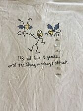 """Men's XL TShirt Funny """"It's all fun and games until the flying monkey's attack"""