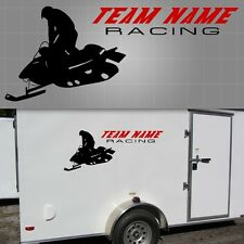 """Snowmobile Trailer Graphic,Personalized Trailer Decal,Trailer Decal - 48"""" x 20"""""""