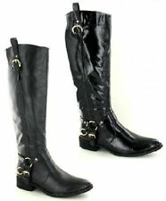 Block Heel Knee High Boots Spot On Synthetic Shoes for Women