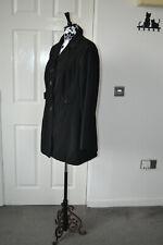 TU women black Mac style jacket trench coat size 18