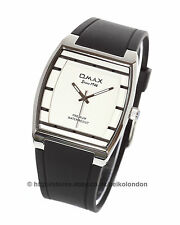 Omax Unisex White/Silver Dial Watch, Stainless Finish , Seiko (Japan) Movt.