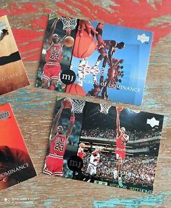 4 Cartes Upper Deck US collector Mickael Jordan decade of dominance, NBA lot.