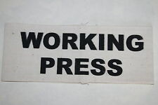 WW2 HOME FRONT ARMBAND WORKING PRESS CORRESPONDENT QUALITY COPY #2