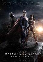 BATMAN v SUPERMAN Movie PHOTO Print POSTER Film Henry Cavill Ben Affleck 003
