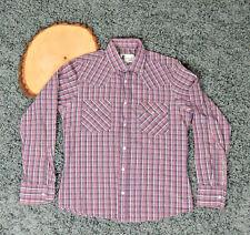 Vtg Soho SZ 1 Multi Color Plaid Western Shirt Pearl Snap Buttons Unisex