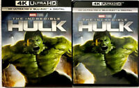 NEW The Incredible Hulk (2008) 4K HD + Blu-Ray w/ULTRA RARE Slipcover US Release