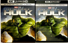 NEW The Incredible Hulk (2008) 4K HD+Blu-ray+Digital w/RARE Slipcover US Release