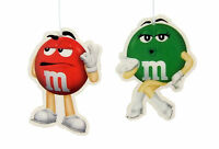 M&M's 2 x Pack Air Fresheners Berry & Apple Car Home Office Fragrance Freshener