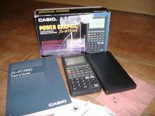 CASIO POWER GRAPHIC FX-750G,GRAPHIC SCIENTIFIC,VINTAGE,BOX WITH PAPERWORK