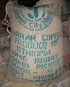 5 lbs Ethiopian Queen City Harrar Natural Grade 4 Fresh Unroasted Coffee Beans
