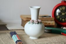 Small Decorative Porcelain White Vase with Flowers Wedding Gift Vintage Ceramic