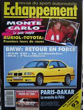 ECHAPPEMENT 1993 BMW 850 CSi + M3 / COBRA & VENTURI TROPHY / GUIDE MONTE-CARLO