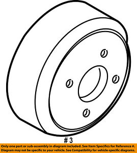 FORD OEM Water Pump-Pulley 6L2Z8509AA