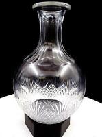 "ABP BRILLIANT CUT CRYSTAL STRAWBERRY AND FAN 8 1/4"" CARAFE 1879-1990"