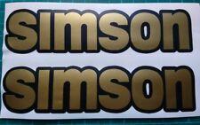 Simson matt Gold Aufkleber Set
