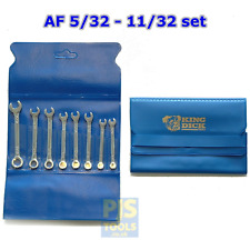 King Dick Tool TKCM 8A 8pc 5/32-11/32 mini combination spanner set stubby short