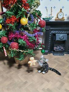 OOAK Realistic tabby cat Dollhouse Handmade IGMA ARTISAN