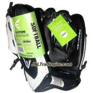 """NWT Easton Fast Pitch Softball Youth 11"""" Right Hand Thrower Glove Black & White"""