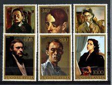 Yugoslavia 1977 SG#1793-8 Self Portraits Paintings MNH Set #A33170