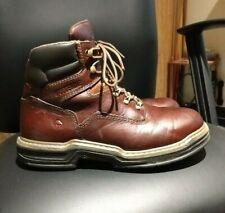 """Excellent Wolverine Raider 6"""" Multishox Brown Work Boots W02421 Sz 8 M"""