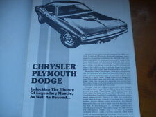 1962-1983 Chrysler,Dodge,Plymouth,Body TAG VIN CODE DECODER Muscle car guide!