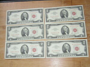 Lot of 6 World Paper Money #3397