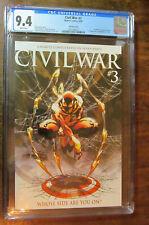 Civil War #3 1:10 Retailer Incentive VARIANT CGC 9.4 NM 2006 Turner Iron Spider