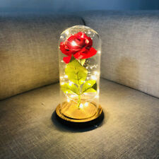 LED Xmas Power Rose Flower Twig Vase Lights Wedding Event Home Decor Z