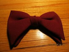 VTG LARGE BOW TIE CLIP ON  Rockabilly - BURGUNDY RED Royal Rust Resistant