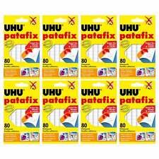 8 x UHU patafix weiß, wieder ablösbare Klebepads, 8 x 80 Stück
