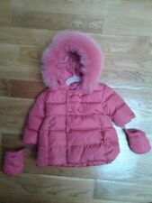 ADD Baby Toddler Girls Pink Down Puffer Jacket Coat 9 Months slightly Used