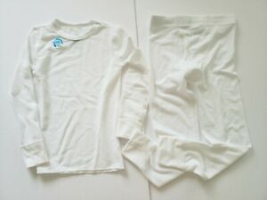 Fruit Of The Loom Boys White Small 6/7 Thermal Underwear Set 2 Pc Top Pant New