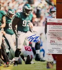 Tim Jernigan Autograph Signed Philadelphia Eagles 8x10 Photo JSA Witness COA