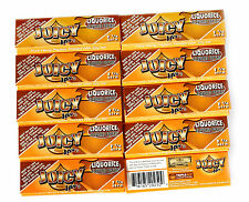 10 booklets - JUICY JAY'S size 1 1/4  LIQUORICE Flavored paper - 320 papers