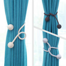 Curtain Tie Rope Magnetic Ball Tiebacks Holder Buckles Curtain Clips Home Decor