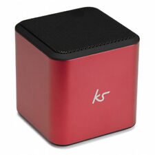Kitsound Cubo Portátil Universal con Cable Altavoz Compatible Smartphones Rosa