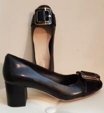 Clarks Orabella Fame Block Heel Court Shoes, UK4/ D, Black, BNIB