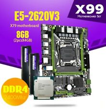 Kit-Bundle-Combo Intel Xeon E5-2620 V3 i7/i5 6 cores + 8GB DDR4+X99 Motherboard
