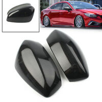 For Mazda 3 Axela 2014 - 2016 ABS Carbon Fiber Side Rearview Mirror Cover Trim