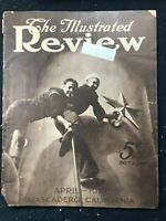 ILLUSTRATED REVIEW Magazine - Apr 1919 - AIRPLANES & DIRIGIBLES in WWI