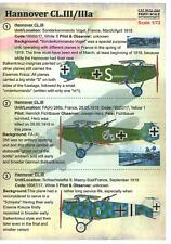 Print Scale Decals 1/72 HANNOVER CL.III & CL.IIIa German WWI Scout