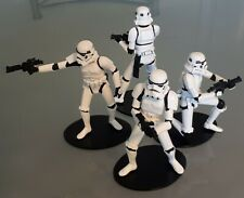 More details for attakus metal star wars 4 stormtrooper figures limited numbered 2500