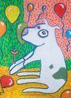 Pit Bull Terrier Celebrates Art Print 8x10 Dog Collectible Signed Artist KSams