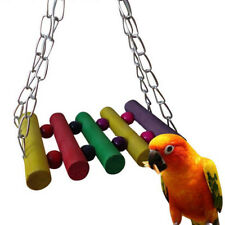 Colorful Parrot Parakeet Pet Bird Cage Hammock Swing Hanging Playing Toy Us Fast