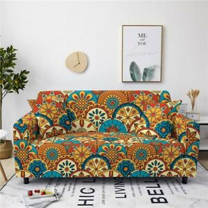 Furniture Slipcovers 3 Seater Sofa Cover Stretch Polyester Pillow Spandex Cover